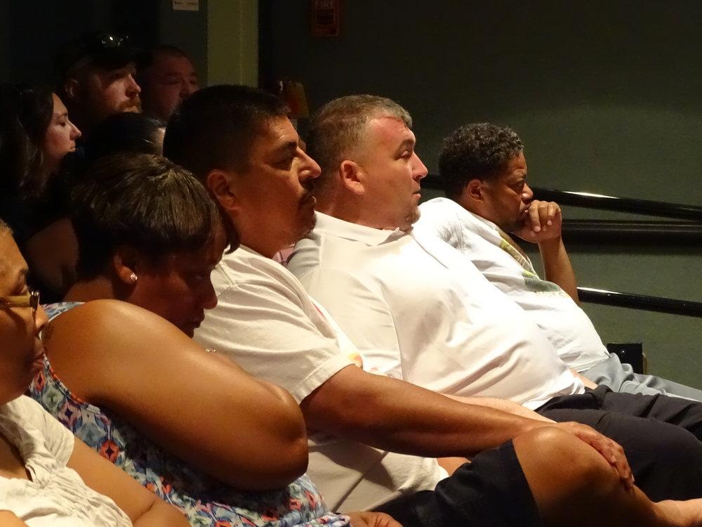 factory workers (IAM) watching Pray (1).JPG