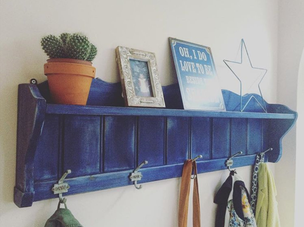 """Loved by... Graham in Hampton Court  """"Winter Bear Home sourced us a lovely set of vintage coat hooks, then painted and distressed them beautifully, really pleased with the result!"""""""