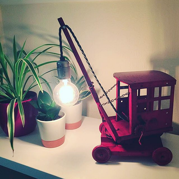 """Loved by… H Jones in Bournemouth   """"Totally in love with my crane lamp…. thank you for your genius creative brains."""""""