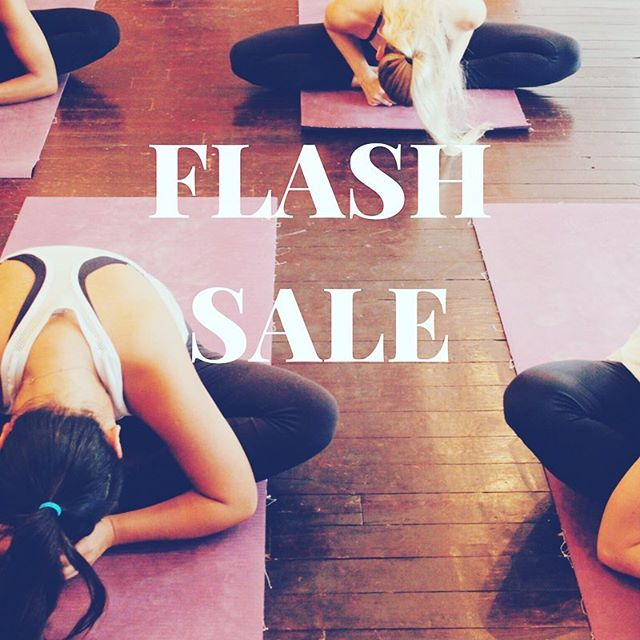 ⚡️FLASH SALE ⚡️ for 24 hours only - get 25% off a 5 class pack. bit.ly/sanghasale