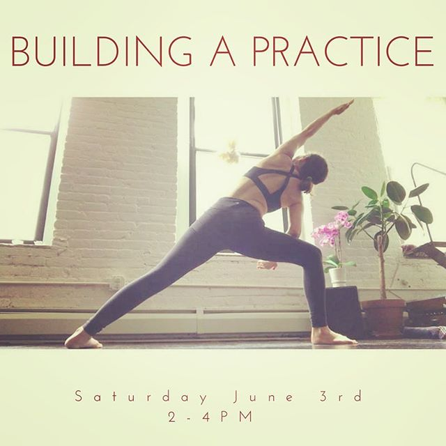 """Today's the last day to sign up for Building a Practice 🌺 /// read on to learn more about this amazing offering /// 🌺""""I remember when I first began practicing yoga as a freshman in college back in the 90's. My first experience was a cassette tape with Rodnee Yee called Yoga for Beginners. I practiced that tape at least 3 times a week for a few months before I mustered up the courage to go to a class.  As the years have gone on, I remain grateful that I found this practice. It has permeated every nook of my life, bringing a greater level of engagement, confidence, receptivity and joy.  Like most people, my portal into the practice was a physical one. It took me some years to include and understand how breathwork, meditation and a certain inquiry into my attitude towards my day to day life and relationships truly complete the practice of yoga.  The benefits of a well rounded practice are layered and endless, never ceasing to reveal themselves to me in the most magical of ways.  I invite you to join me for this workshop that is truly special to my heart.  I designed it for the purpose of providing you with a structure to begin a home practice or refine your current one.  The class will include reflection and silence meditation, Yin and Vinyasa Yoga and brief interpersonal exercises for greater understanding into yourself and your nature. The results will include tangible tools providing a framework for daily practice and greater connection to your world and loved ones."""" 💜"""