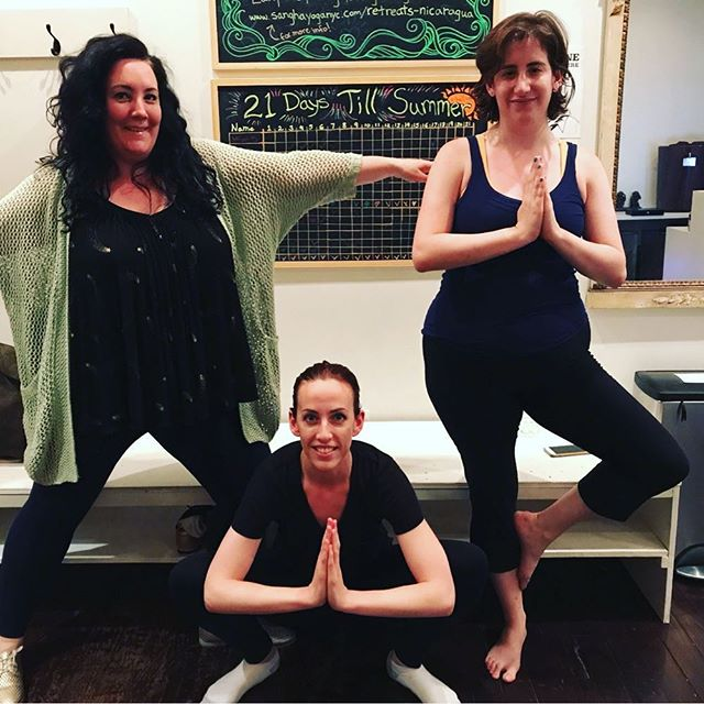 We are so proud of all of our 21 day yoga challengers! A special shout out to these three yoginis who completed every single day of the challenge. You did it! 👏👏👏 #yogachallenge #21daystillsummer #sangha
