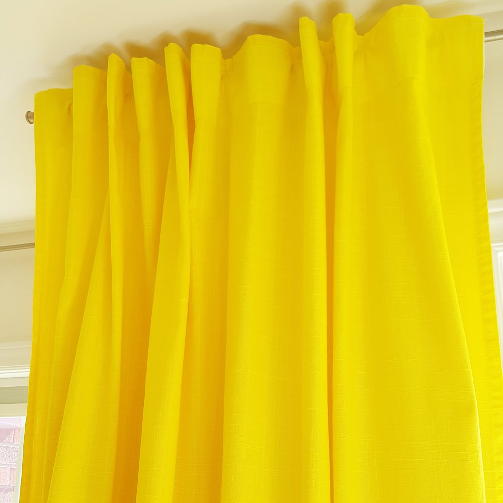 DIY Dyed Curtains