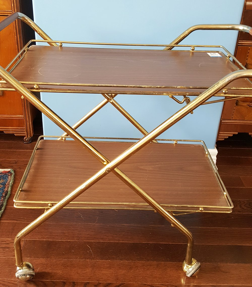 Vintage Bar Cart: Before