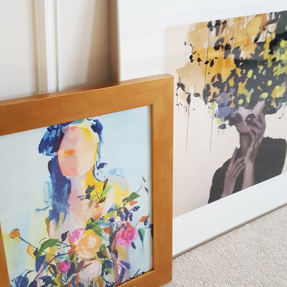 Prints by raven roxanne (left) & Anna Kincaide (right)