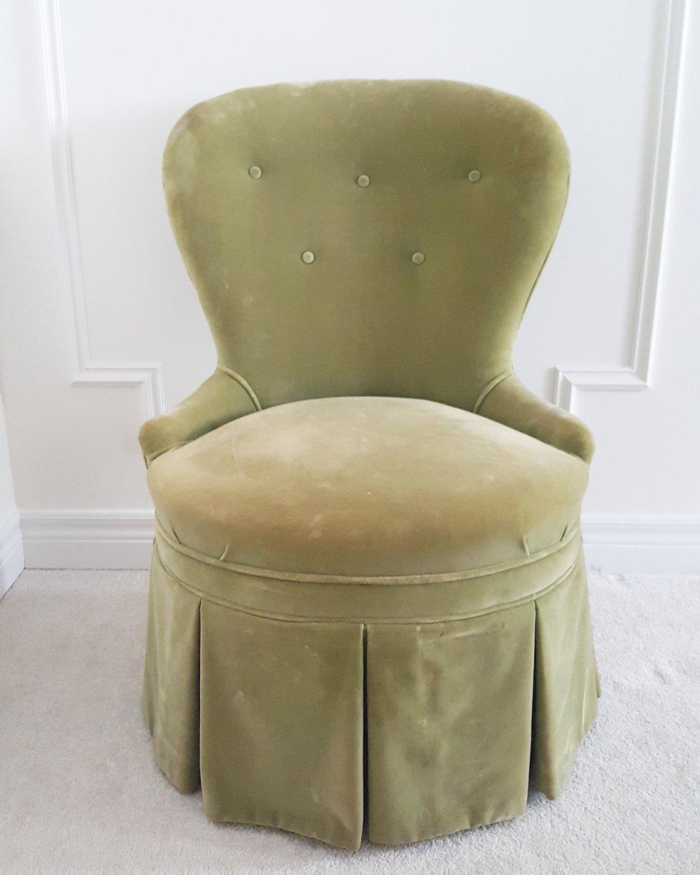 velvet vanity chair