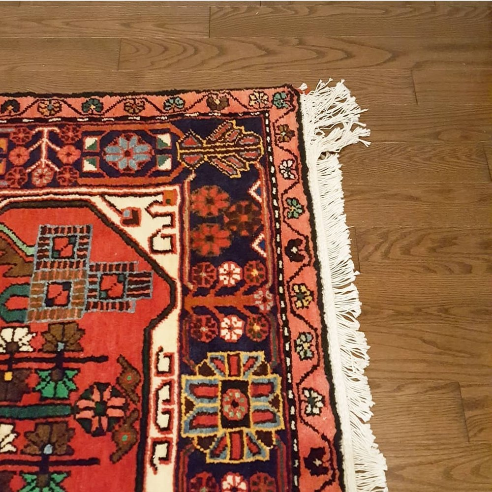 persian rug from northern iran on our brand new hardwood floors