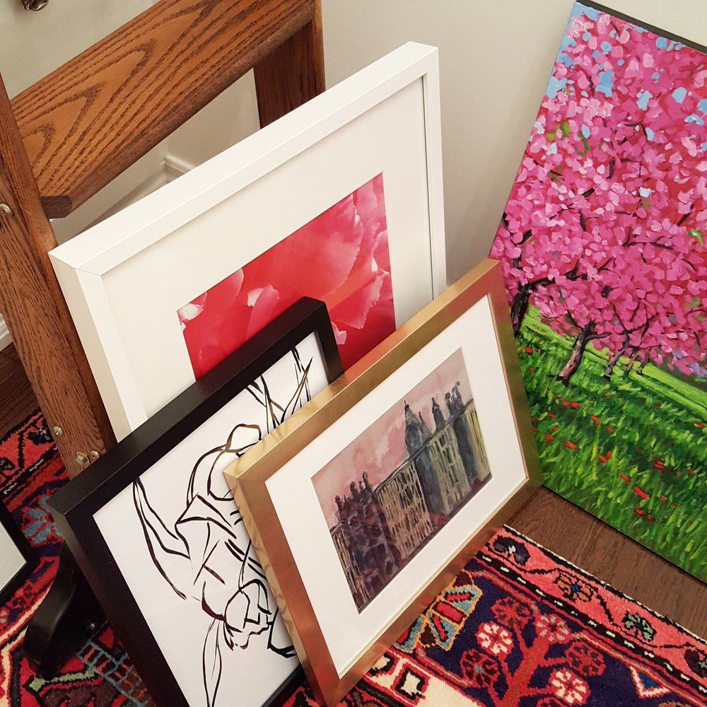 """london"" & ""tulips by lynne millar from Jenny's print shop"