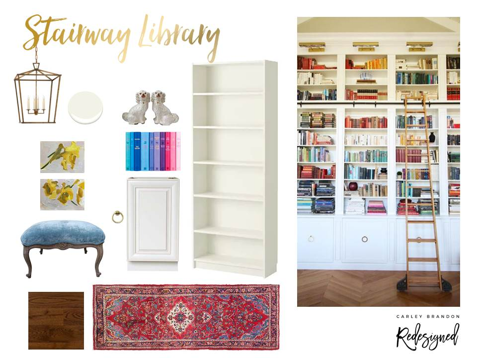 Spring 2018 One Room Challenge: Stairway Library | Carley Brandon Designs