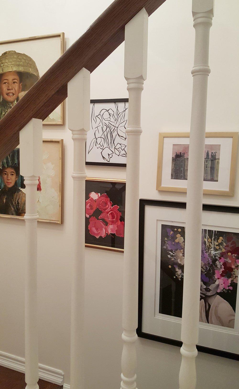 Spring 2018 One Room Challenge: Stairway Library & Gallery | Carley Brandon Designs