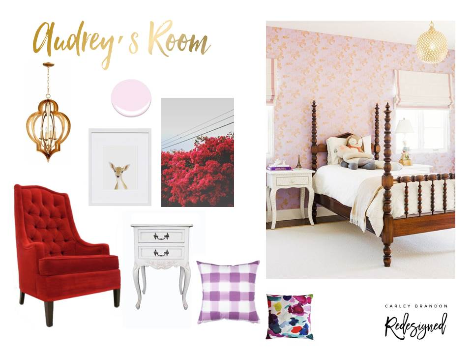 Audrey's Big Girl Room - Mood Board