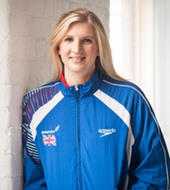 "Rebecca Adlington    Double Olympic Gold Medallist     ""Every child should leave primary school being able to swim 25 metres. Every child means every child, disabled or not. Without Level Water's work, a lot of disabled children would be left behind, and never have the chance to experience a lifetime of sport."""