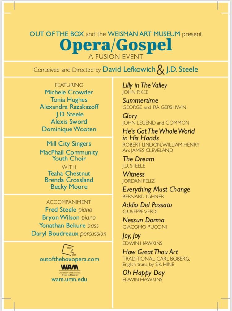 Opera Gospel Program