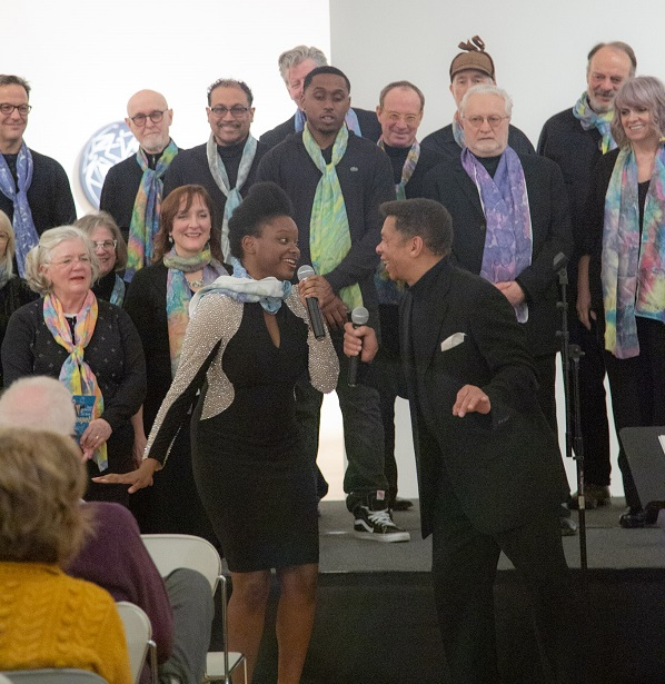 Michele Crowder and J.D. Steele with the Mill City Singers.  Photo by Ric Rosow