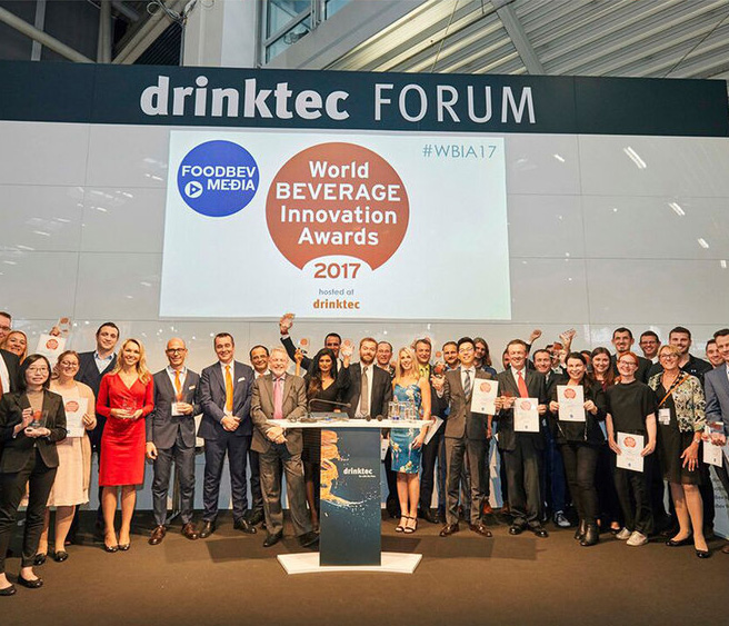 WORLD BEVERAGE INNOVATION AWARDS - In September last year we were recognised at one of the most prestigious events in the drinks industry, the World Beverage Innovation Awards 2017, where we walked away with the coveted 'Best New Beverage Concept' award, winning against such giants as Diageo, Krones and RC Cola International.Organised by FoodBev Media, the influential awards have been running for 15 years and are recognised as the gold standard for innovative ideas in our sector – and as a real hallmark of success. The judges considered 227 entries from more than 33 countries in 25 categories.