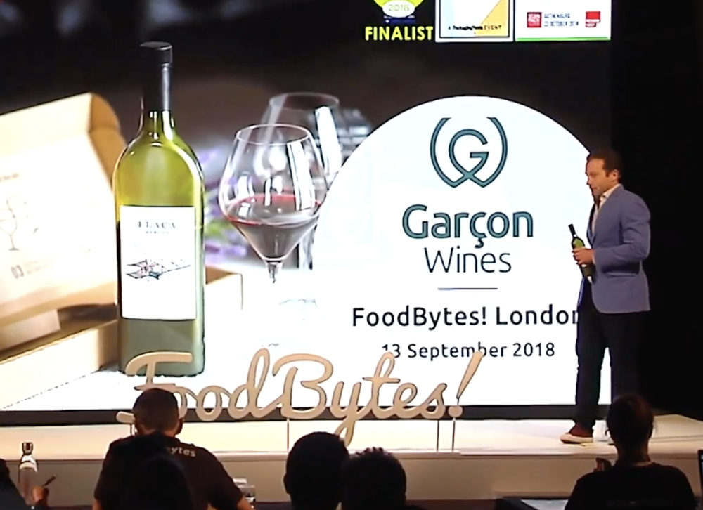 FOODBYTES! - At the London edition of FoodBytes! in September 2018, CEO and co-founder Santiago had 100 seconds to pitch our novel and sustainable wine bottle to a crowd of food industry leaders and investors. Organised by Rabobank, a global financial services leader, 14 editions have taken place across 3 continents since its conception, giving a platform to over 250 startups who are providing groundbreaking solutions across the food and agricultural value chain.