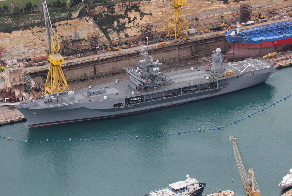 LCC20 Mount Whitney berthed @ Parl Wh AERIAL vi - 09.03.2012.jpg