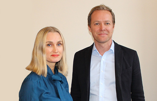Christine Sundberg Carendi, kansliansvarig och Johan Holmer, ordförande, Kreativ Sektor.
