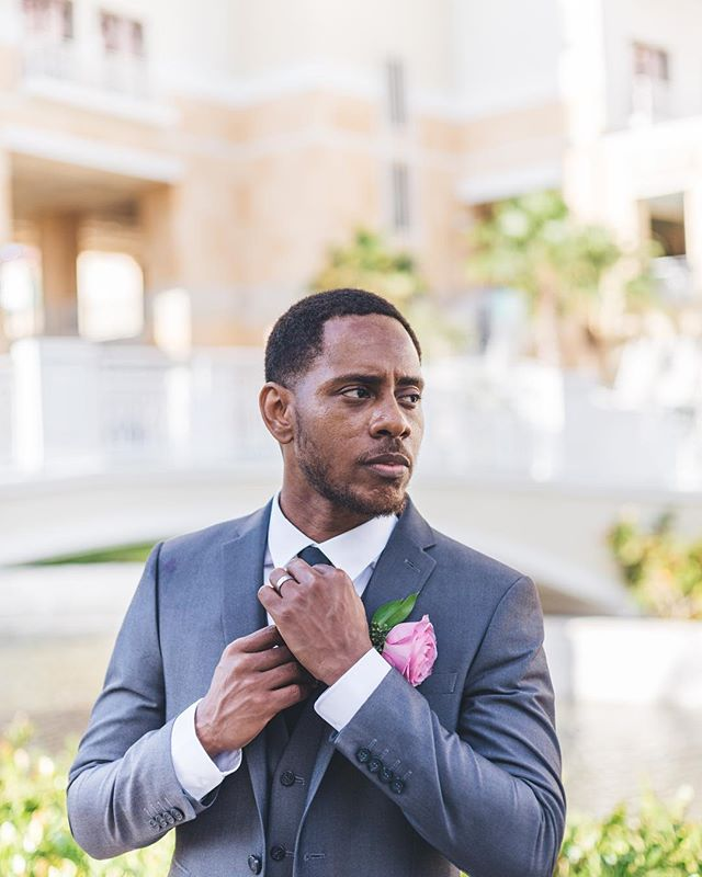 Ashley Christian Deveaux.  #boyoctober #handsome #hahaha #man #black #suit #wedding #french #married #bahamas #instagram #instagood #instadaily #hotel #love #portrait #wow #yes #true #real #stand #black