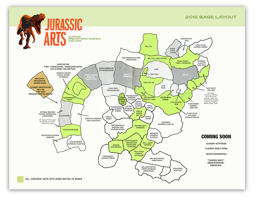 Winter 2016 Jurassic Arts Base Layout -  DOWNLOAD PDF