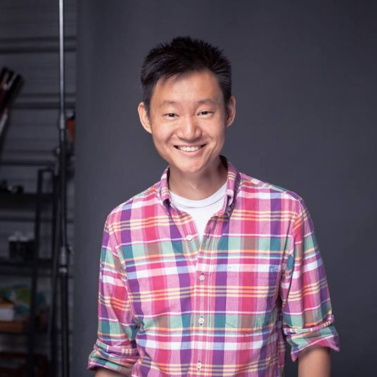 Hua Liu  Hua is to production what Daniel Radcliffe is to Paul Dano. He is a talented photographer, producer, and designer with a background in both film and advertising. He's a BBQ aficionado with a vintage motorcycle and a large bashful kleptomaniac greyhound.