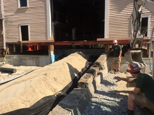Pickering House Inn in Wolfeboro barn ramp reconstruction