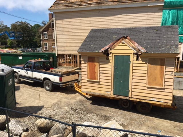 Historic NH tourism bureau booth moves from Pickering House in Wolfeboro NH