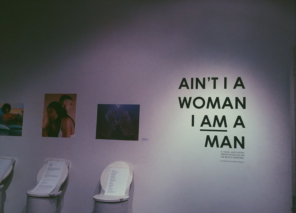 "Some of our work is being featured at Design Exchange for ""AIN'T I A WOMAN I AM A MAN"" ~ A visual/poetry presentation on the Black Diaspora curated by  @Khadijahsalawu"