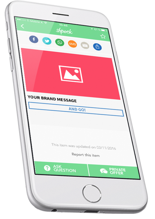 Mobile Ad Format - Native Ad Item Screen