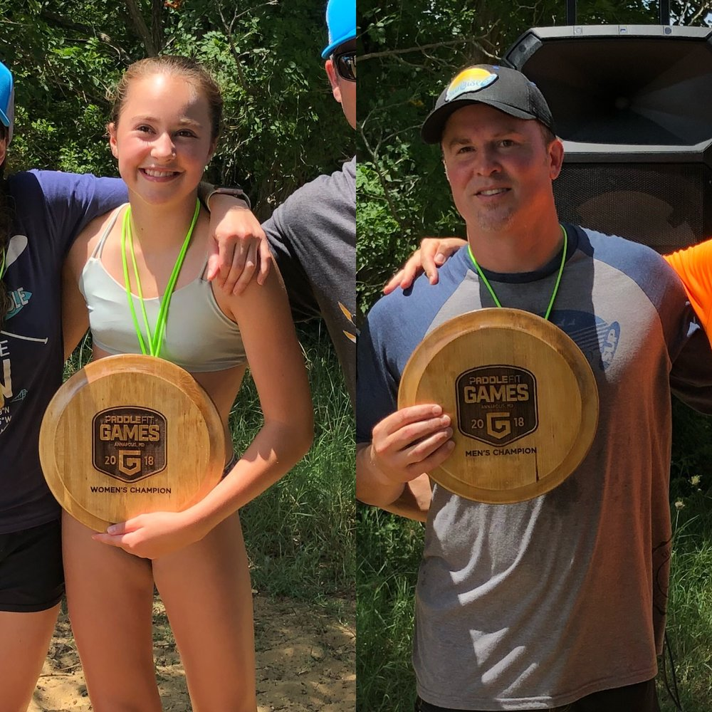 2018 Overall winners, Ole Wooden Trophy recipients and father/daughter: Women: Maggie Grove Men: Shendan Grove