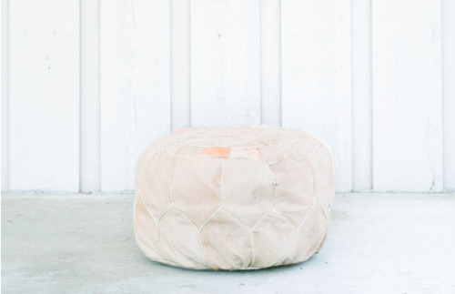 Dirty Beige Egyptian Handmade Genuine Leather Ottoman Pouf EGYPSY Magnificent Inexpensive Poufs