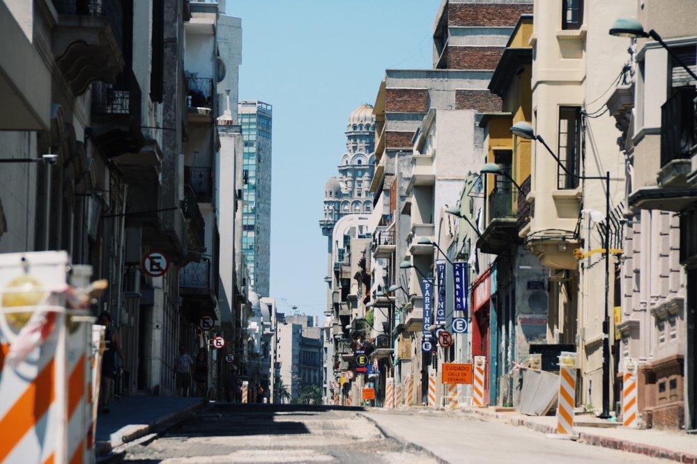 Empty streets of Montevideo