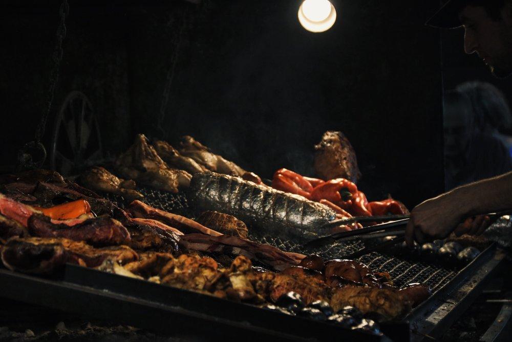Meat on La Parrilla