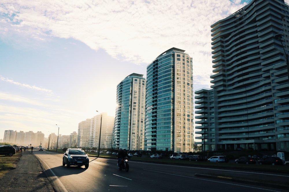 High-rise condos line the coastal town of Punta del Este.
