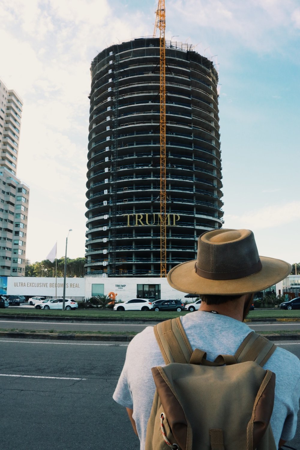 We were surprised that Trump is building a new condo tower here.