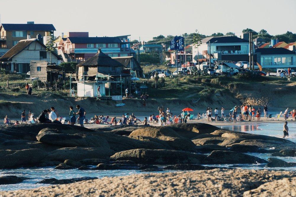 The main Beach in Punta del Diablo.