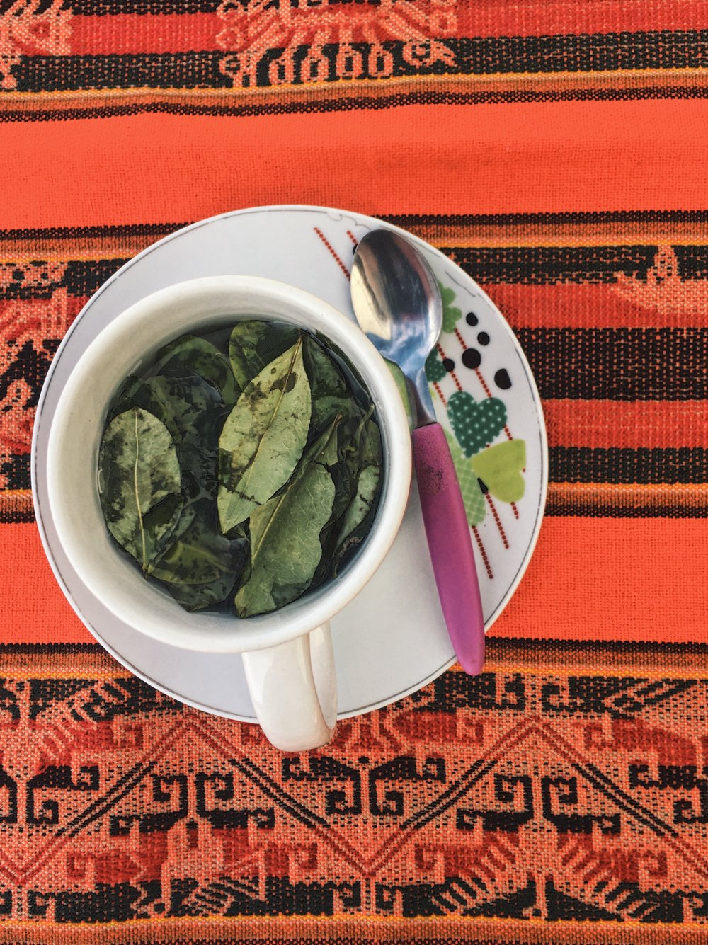 Coca Tea in Lago Titikaka.