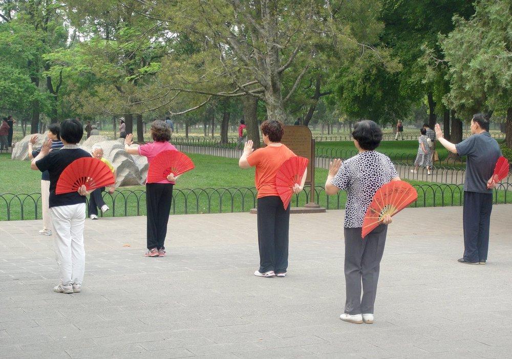 Fan Dance in Beijing Park