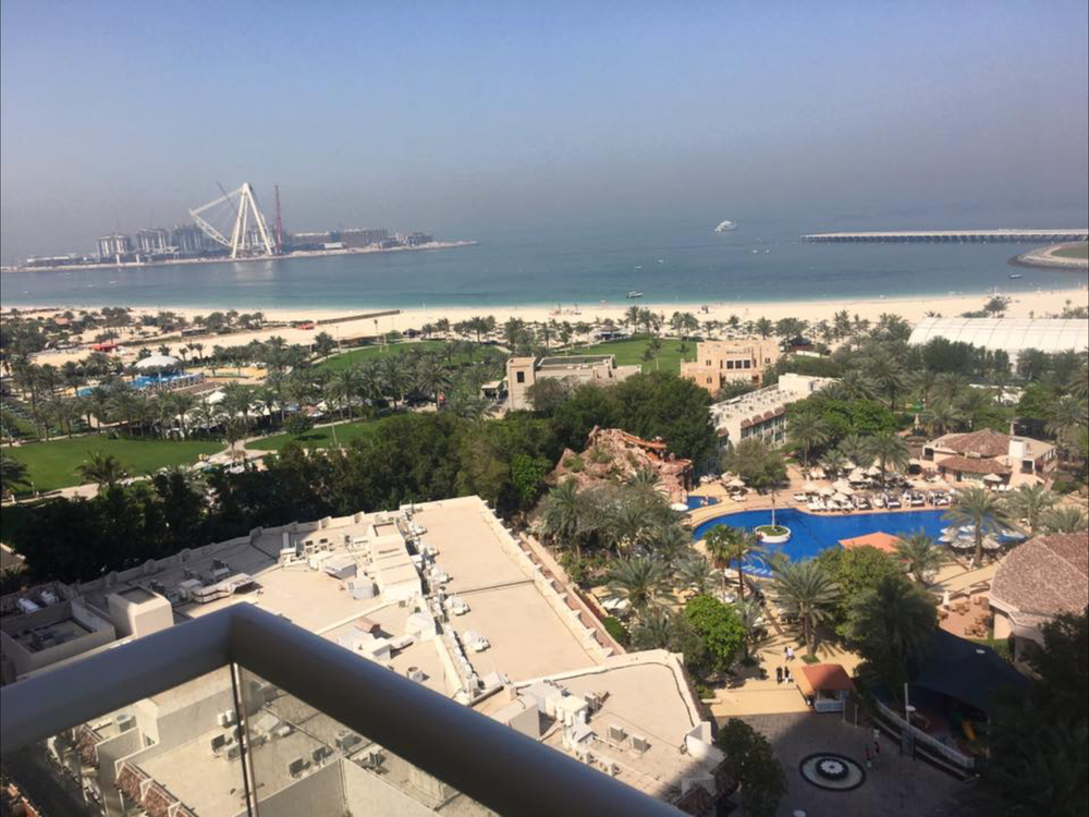 View from the balcony at the Seaview room, Habtoor Grand