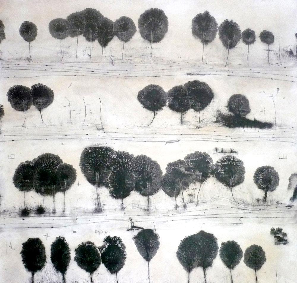 l'altre sender - 100 x 100 cm - 2011