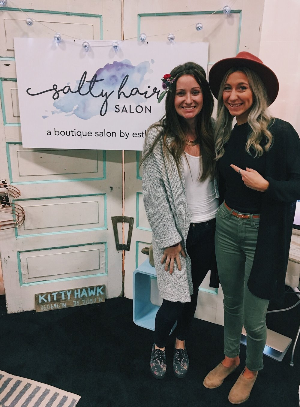 One of our salty Brides that booked for the spring of 2017 stopped by our booth! Chel, you're awesome and we so enjoyed beautifying you for your wedding experience!