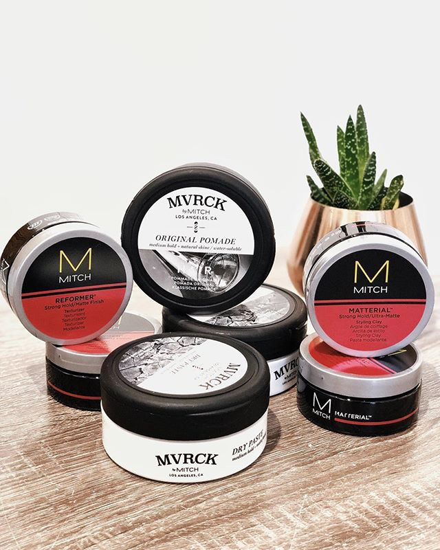 Salty men, this is what you've been missing in your hair product quiver. 💪🏽 🌊 @mitchtheman + @mvrckbarbering offer anything from a matte finish to a slick shine for all you greasers out there. Stop in Salty to get your hair styled the way you want with MVRK & Mitch. #mvrckbarbering #mvrck #mitchtheman #paulmitchell #saltyhairsalonobx #saltyhairclub #killdevilhills #obx #outerbanks #mensgroomingproducts #barber #pomade #mattefinish #hairproduct