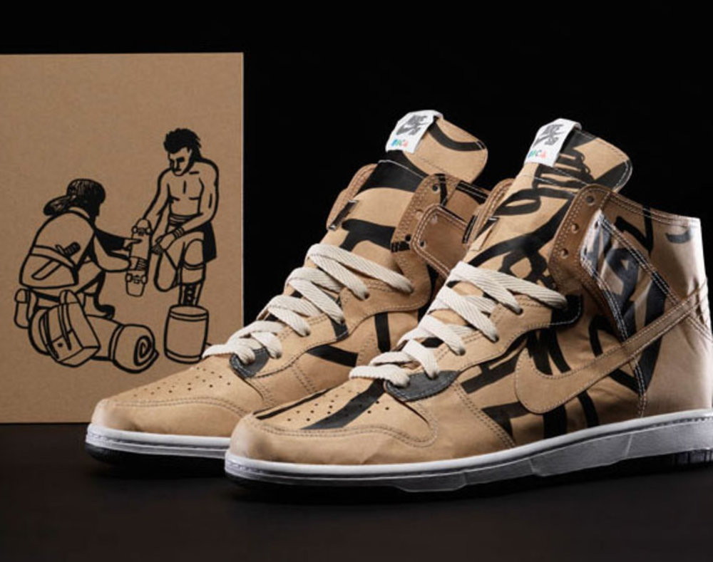 Nike SB x Geoff McFetridge Paper Dunk High. Image Courtesy of Freshnessmag.com.