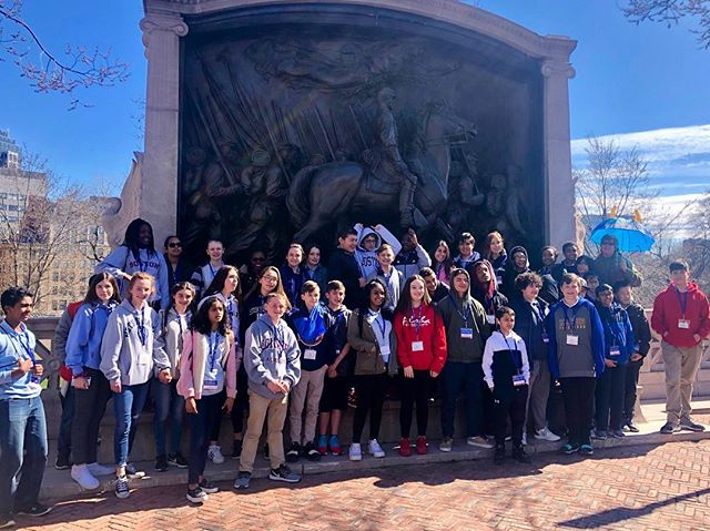 Across from the State House we found the Robert Gould Shaw and Massachusetts 54th Regiment Memorial.  The 54th Volunteer Infantry was the first documented African American regiment formed in the north during the Civil War.  #exploringhistory #thebridgesacademy