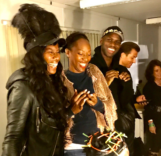 Aicha McKenzie & Vanessa Kingori MBE backstage with Grace Jones