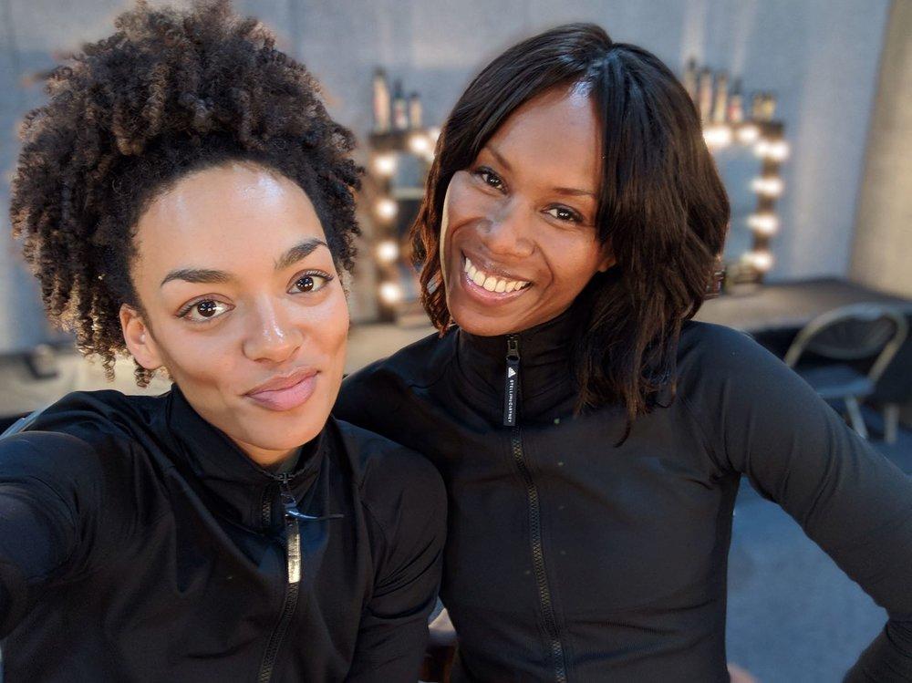 Aicha & Adrienne MTV EMA .JPG