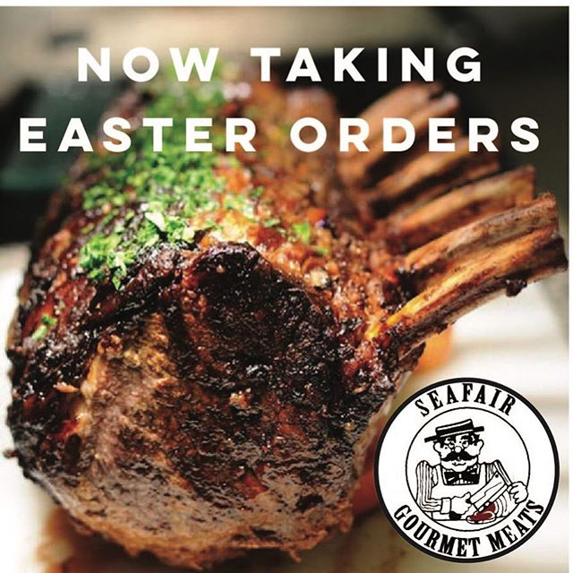 Hello! A quick note to all who order for Easter, it is quickly approaching and already only a week away. 🐰🐰🐰 Hopefully it won't be an April fools joke for some 😜 You can place your order online or by calling 604-274-4740 to reserve your ham, turkey, lamb or prime rib roasts.