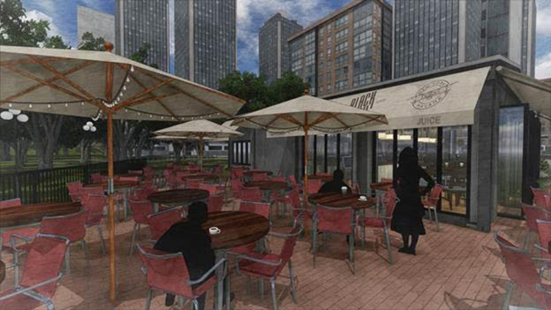 Rendering of BlackTail Bar at Pier A
