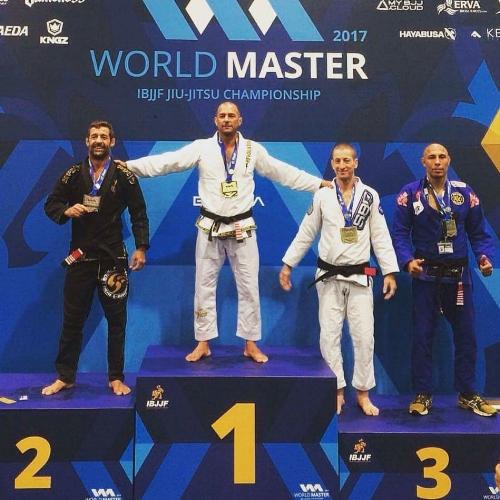 Leading from the front!BJJ Revolution Team cofounder Rodrigo Medeiros scores Gold Medal at Master Worlds!!