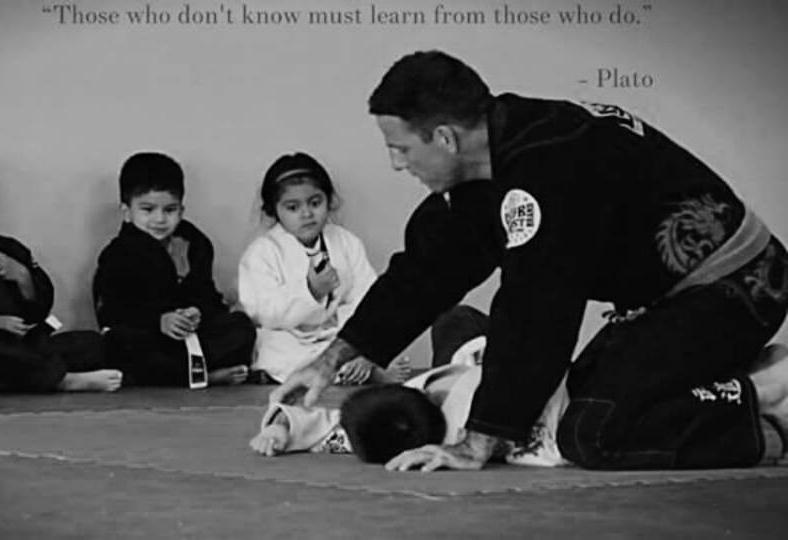 """""""Coach Ben"""" teaching Jiu-Jitsu fundamentals to level one kids (4-6yrs)"""